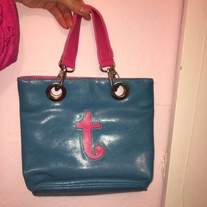 Blue and pink bag